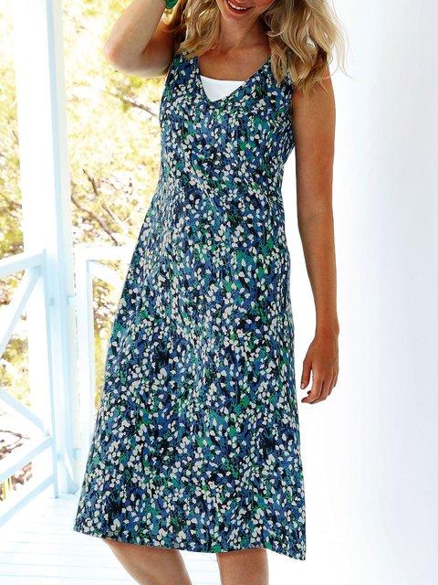 Women Floral Caftan V-Neck Summer Dresses