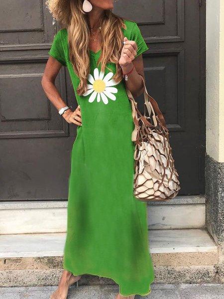 Short Sleeve Casual Cotton Dresses