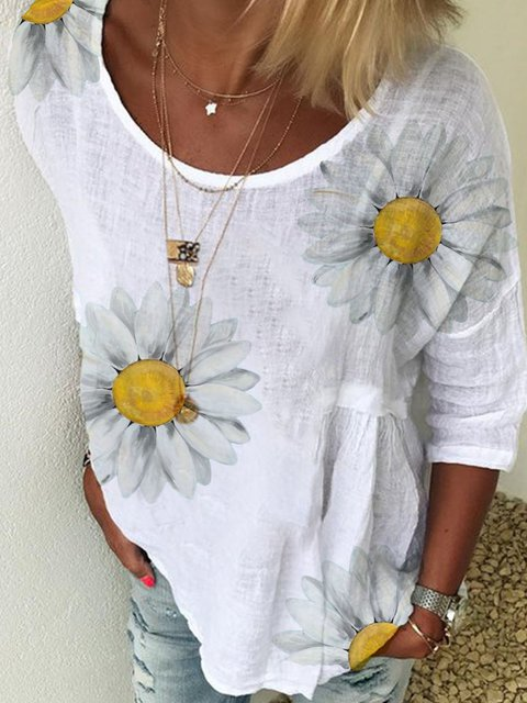 Floral Cotton Shirts & Tops