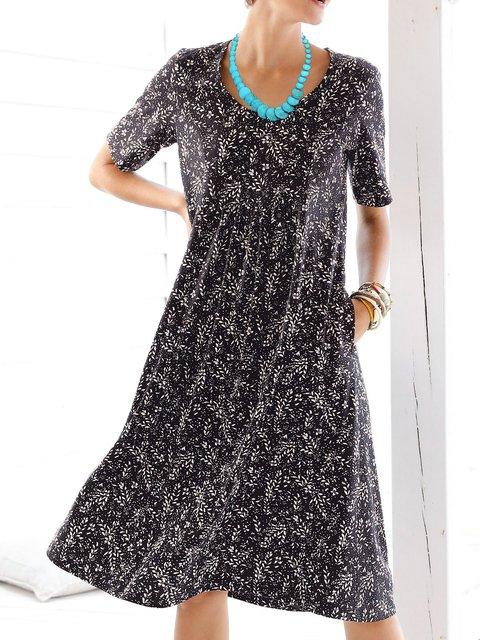 Women Caftan Printed Pockets Summer Dresses
