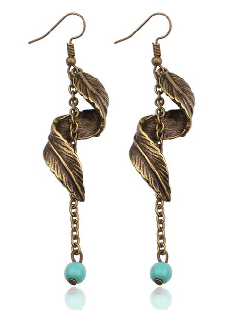 Women Leaves Alloy Drop Earrings
