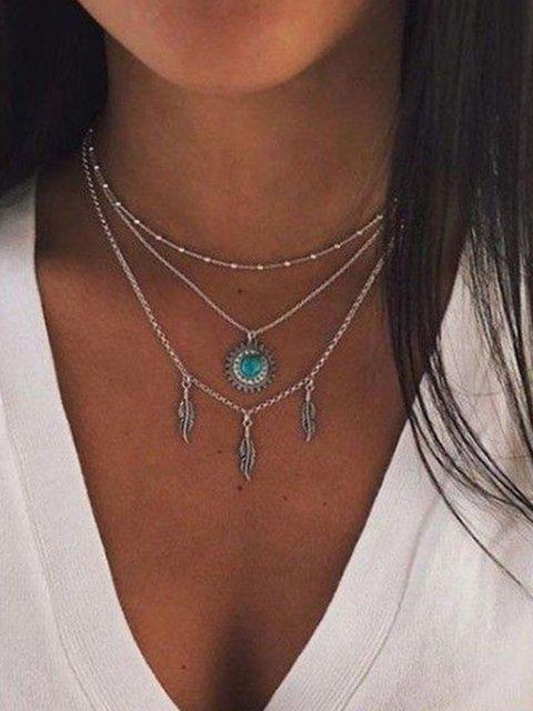 Vintage bohemian turquoise Necklaces