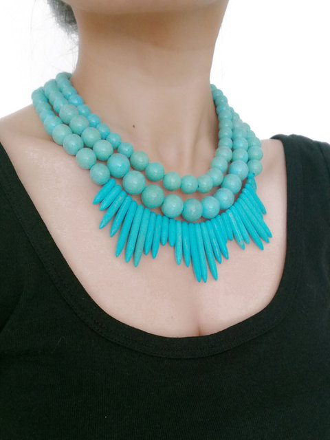 Multi-layer Turquoise Necklaces