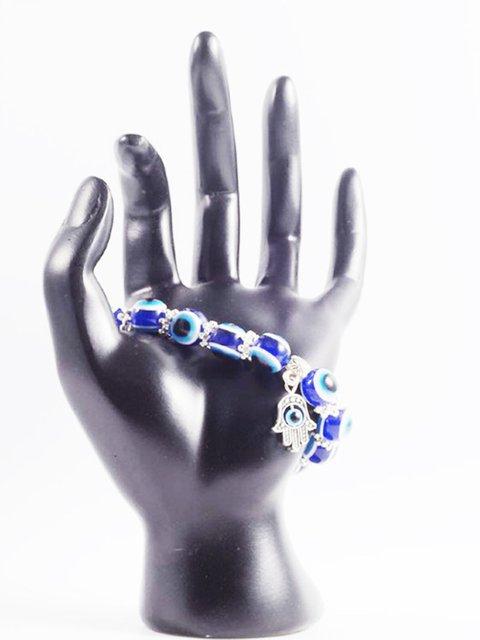 Vintage Blue Eyes Bead Fatima Hand Lucky Bracelets