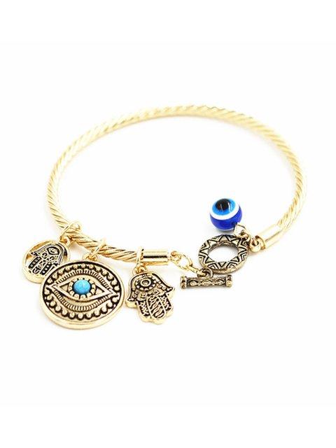 Blue Eyes Hand of Fatima Demon Eye Bracelet