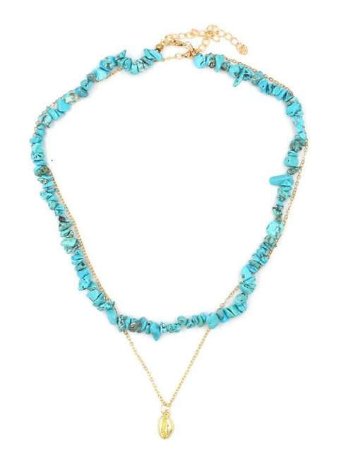Turquoise and shell Necklaces