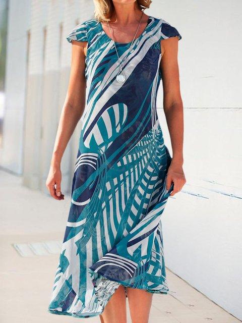 Everyday dress A-Line geometric print dress