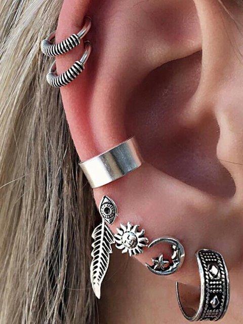 Women Alloy Silver Vintage Earrings