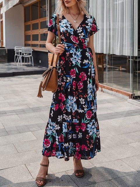 Black Dresses A-Line Date Maxi Dress