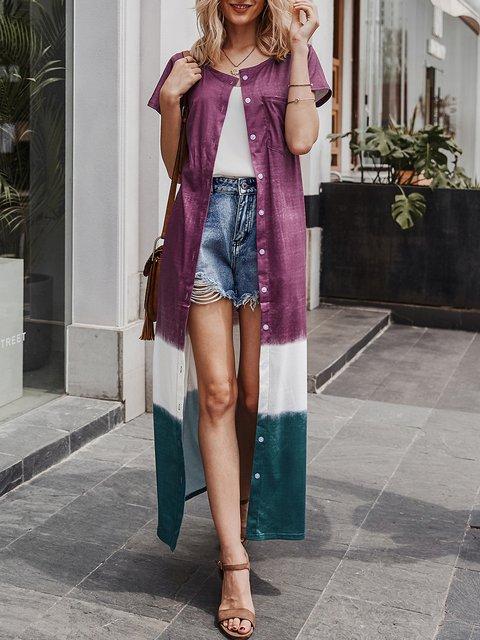Purple Gradient Shift Gradient Tie Dye Outerwear
