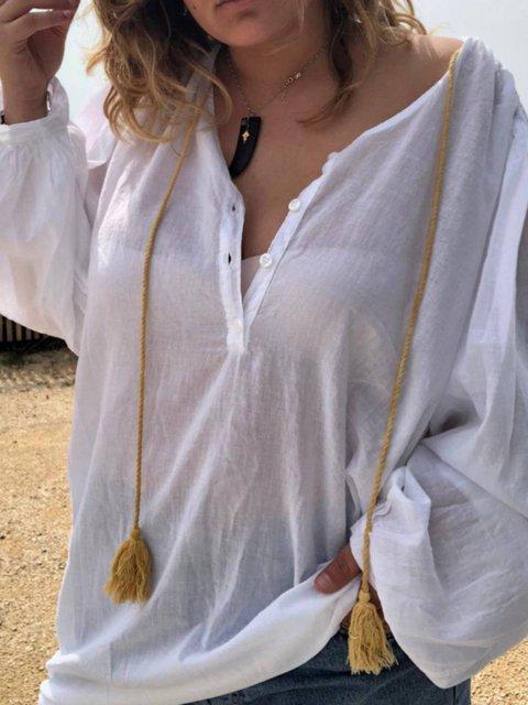 Sequin  Holiday V Neck Long Sleeve Shirts & Tops