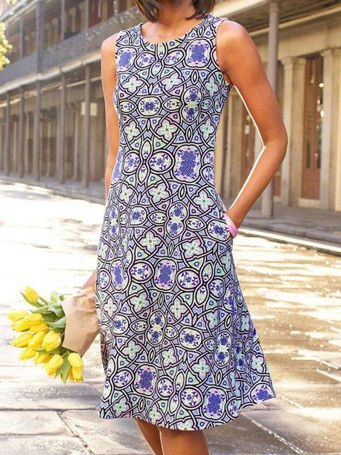 Sleeveless Pockets Mini Dress Plus Size Summer Dresses