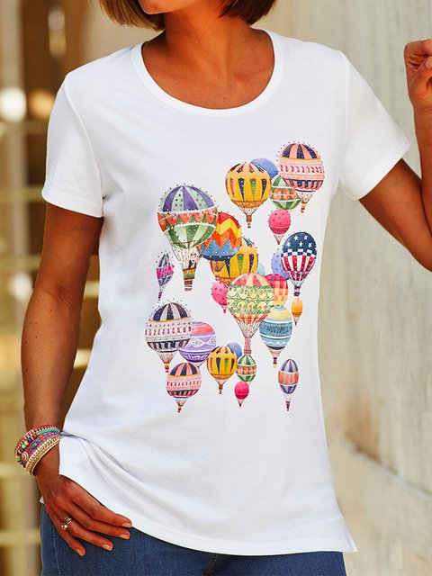 Plus Size Summer Tee Women Short Sleeve T Shirts