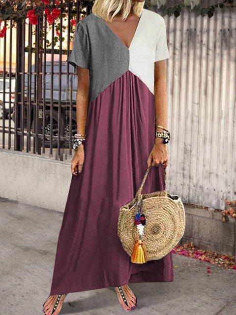 Plus Size Summer Dress Short Sleeve Dresses