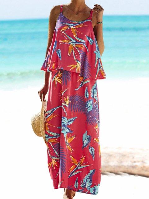 Spaghetti Maxi Dress Plus Size Summer Dresses