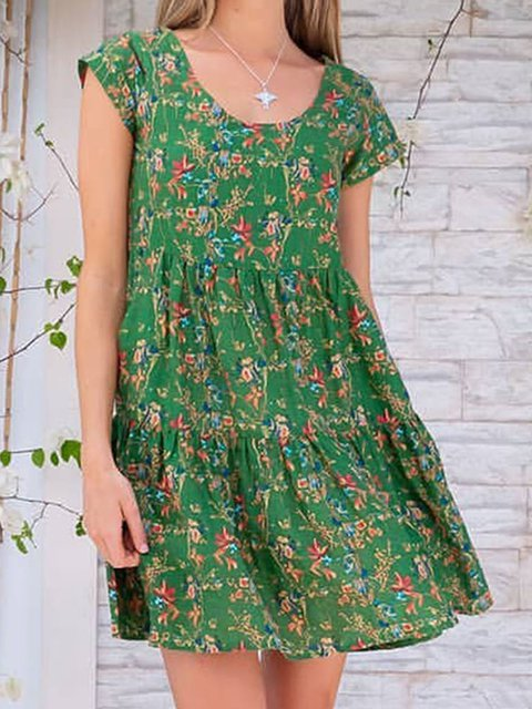 Floral Kaftan Printed Summer Dresses