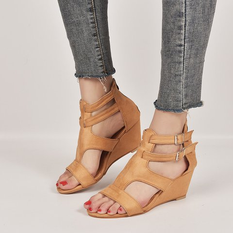 Women's Summer Daily Buckle  Wedges Sandals