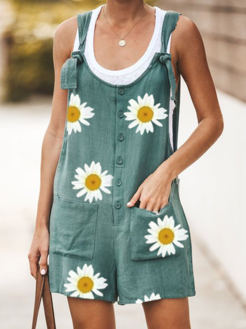 Plus size Casual Floral One-Pieces