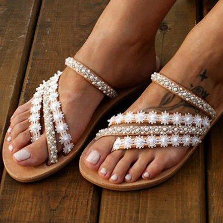 Women Boho Holiday Feel Shoes