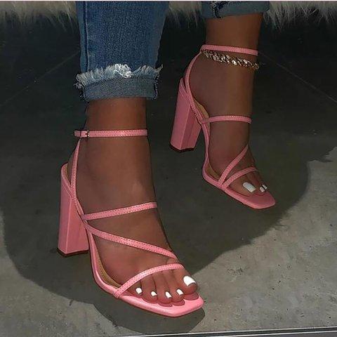 Women Summer Elegant Strappy Heel Sandals