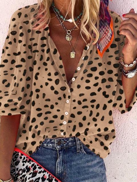 Shirt Collar Half Sleeve Shirts & Tops