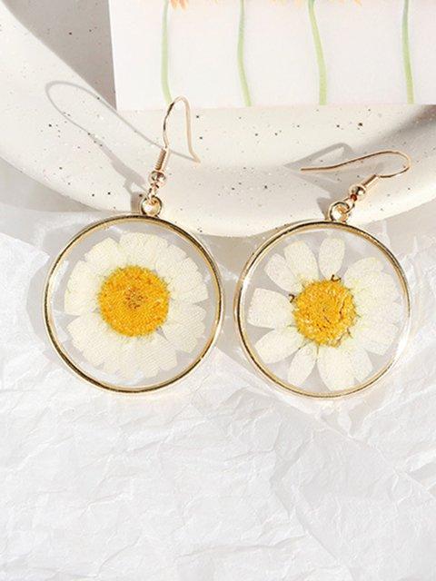 Daisy sunflower dried flower earrings