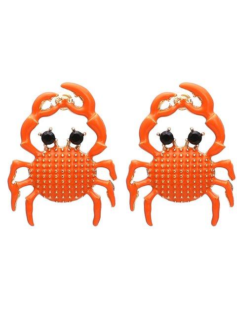 Women Alloy Mini Crab Earrings