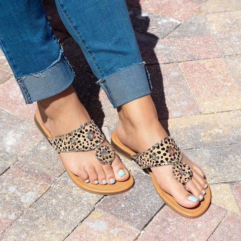 Summer Flat Heel Holiday Slippers