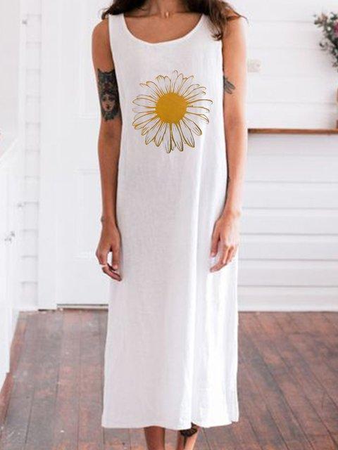 Women Floral Caftan Daisy Casual Dresses