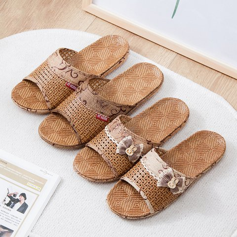 Casual Woven Material Slippers