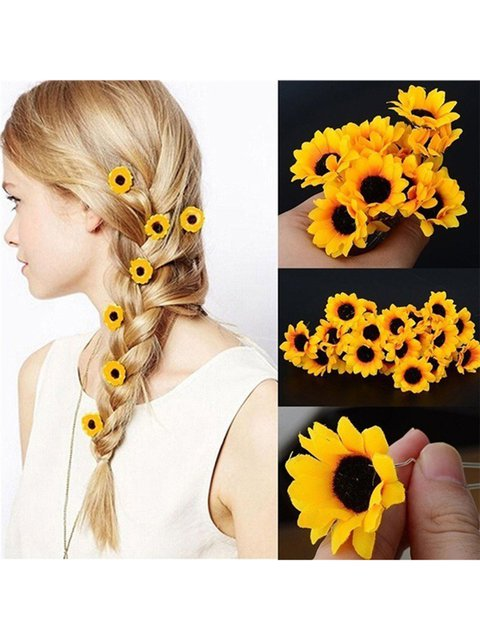 Women Cloth Sunflower 5 Pices for a Set Haripin