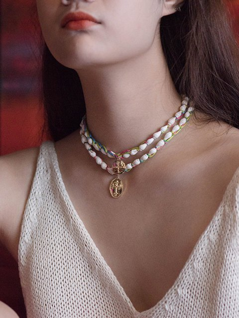Women Alloy Shell the Combination of Freestyle Necklaces