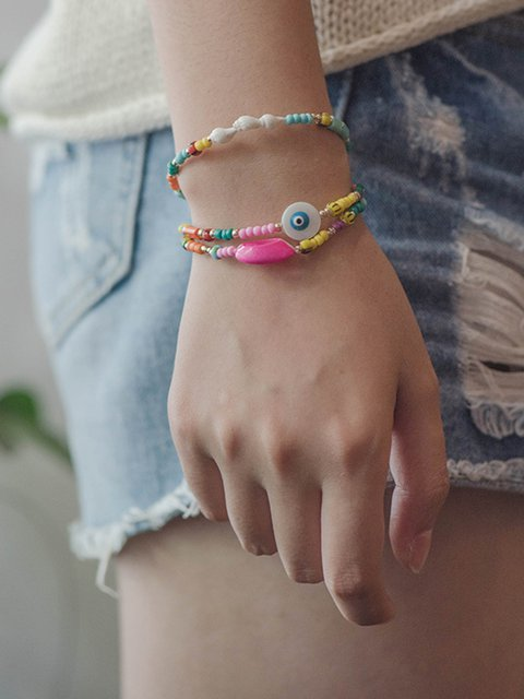 Women Alloy the Combination of Freestyle Shell Bracelets