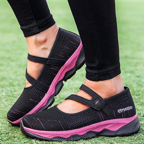 Flat Heel Mesh Elastic Band Women Slip On Sneakers