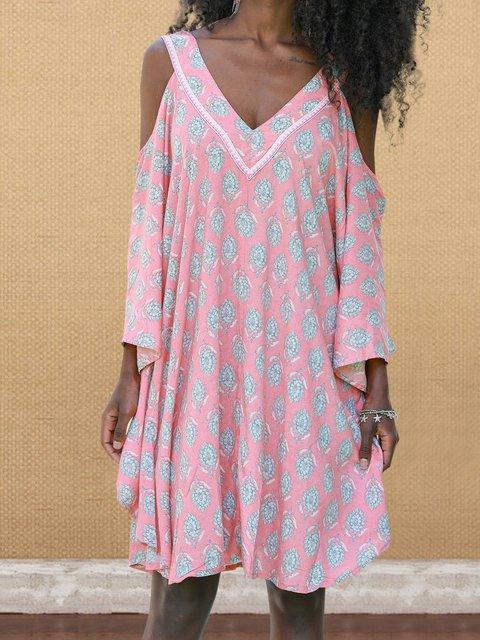 Plus Size Mini Dress Cold Shoulder Dresses
