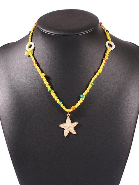 Women Bead Starfish Fashion Necklaces