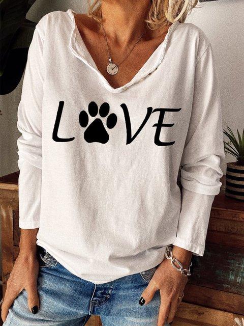 Long Sleeve Animal Shirts & Tops