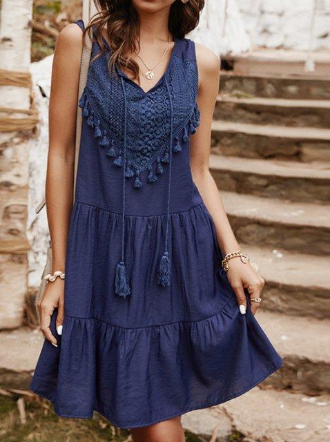 V Neck Sleeveless Dresses