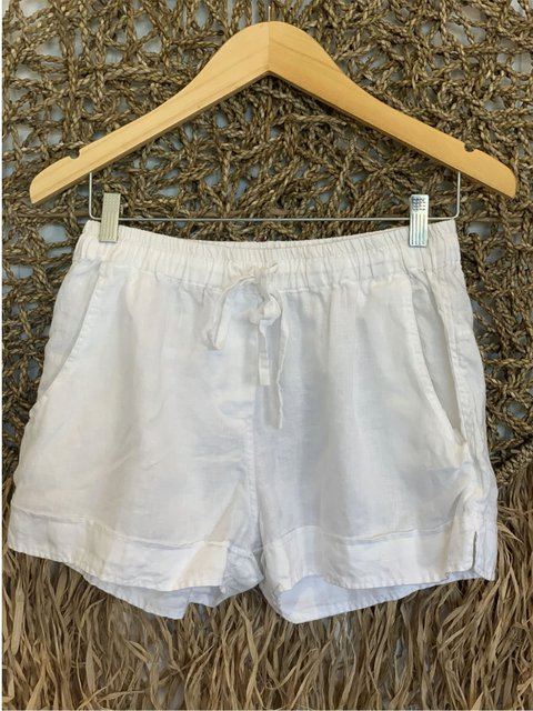 Retro casual loose basic simple cotton and linen shorts