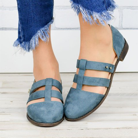 Summer Caged Flats Loafers