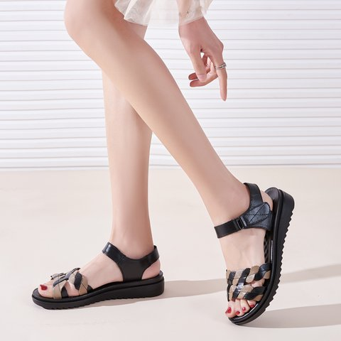 Cowhide Leather Daily Sandals