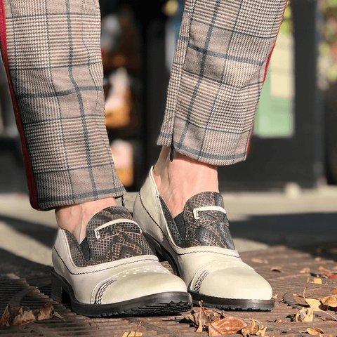 Women Vintage Comfy Oxford Slip-on Shoes