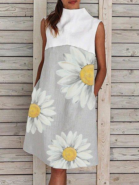 Gray Women Dresses Floral Dresses