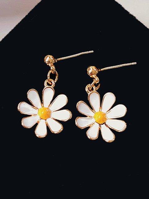 Casual Vintage Alloy Daisy Earrings