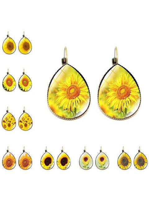 Vintage Daisy Sunflower Alloy Earrings