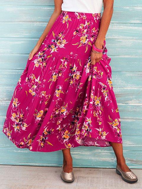 Women Summer Floral Skirts