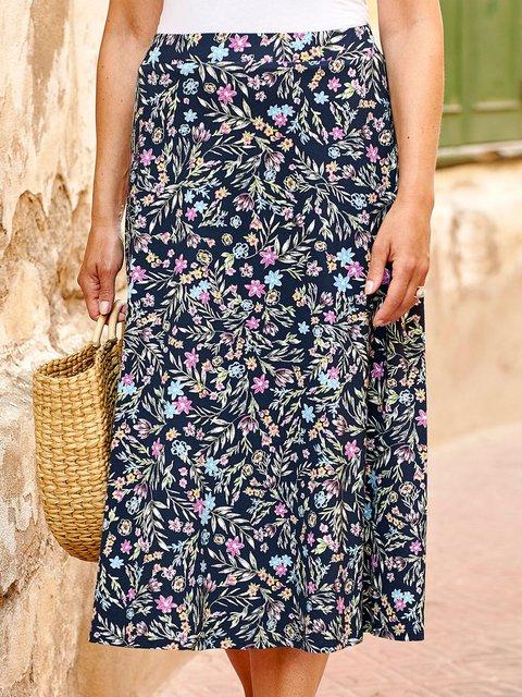 Summer Floral Printed Skirts