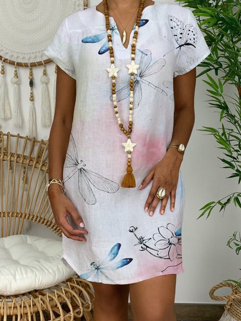 Romantic Butterfly Lady Dress Casual Floral Dress