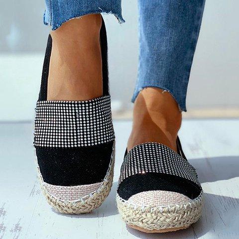Women Cassual Daily Rhinstone Slip On Sneakers