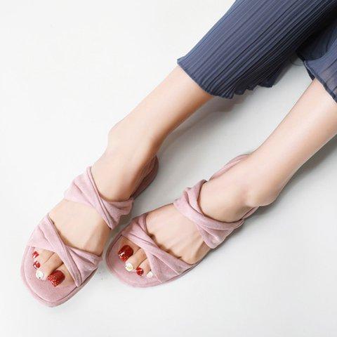 Women Slide Solid Flat Heel Daily Sandals
